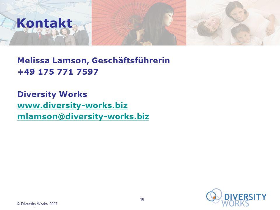 Kontakt Melissa Lamson, Geschäftsführerin +49 175 771 7597