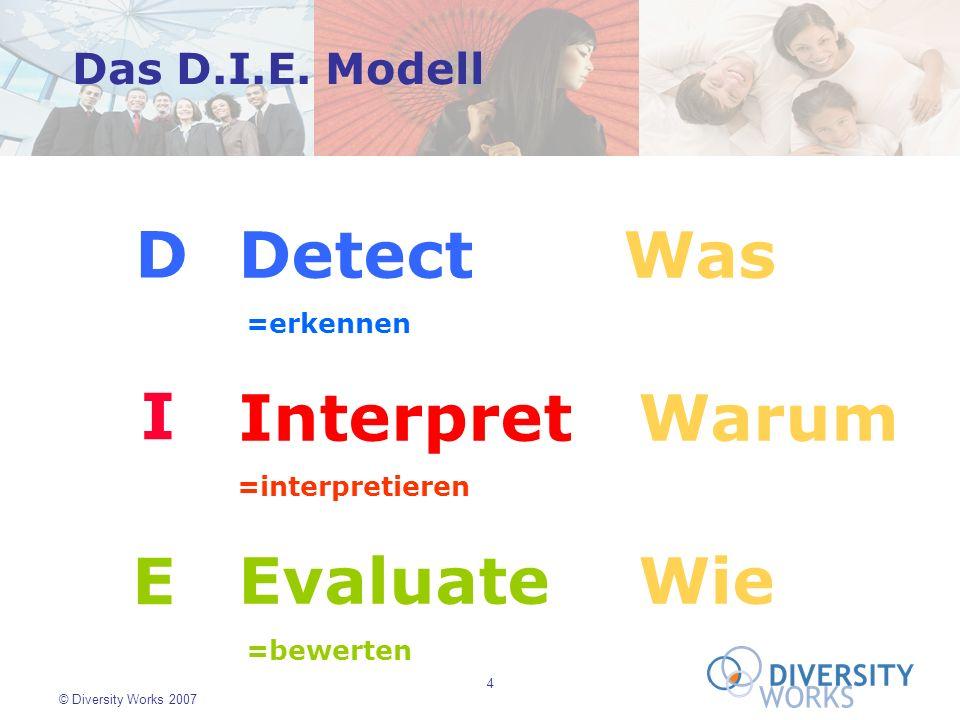 D Detect Was Interpret Warum Evaluate Wie I E Das D.I.E. Modell