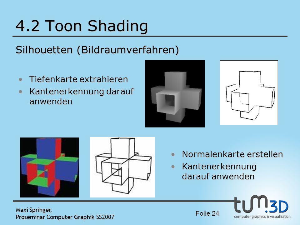 4.2 Toon Shading Silhouetten (Bildraumverfahren)