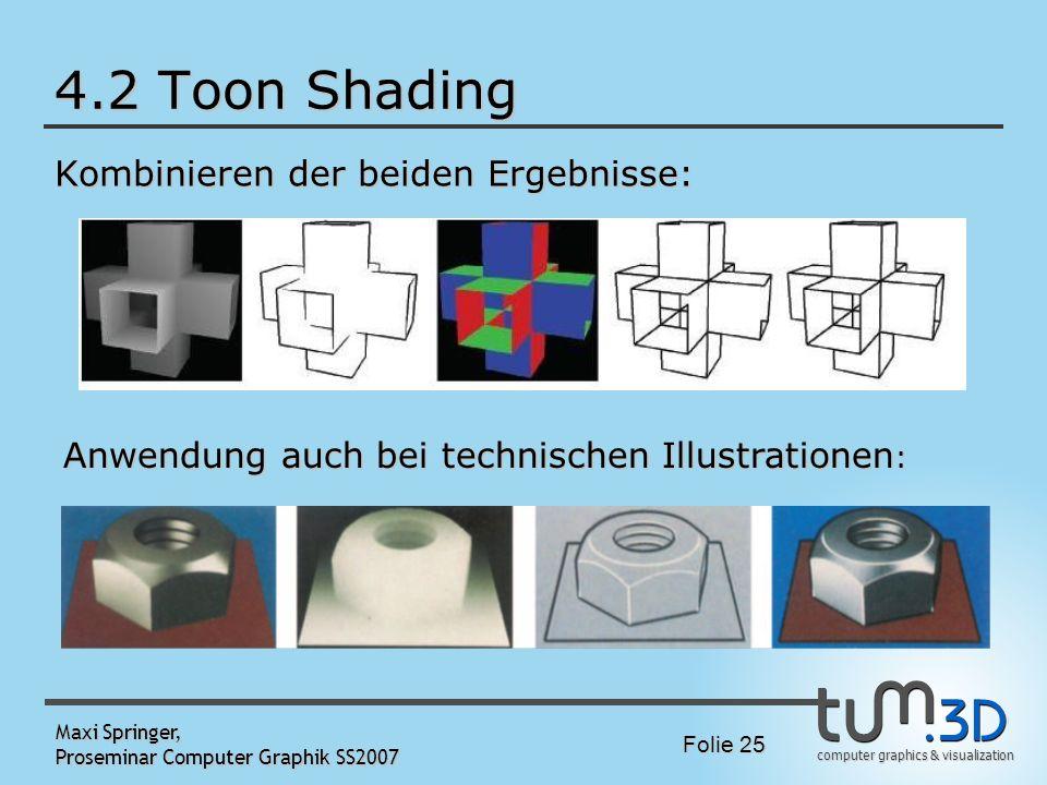 4.2 Toon Shading Kombinieren der beiden Ergebnisse: