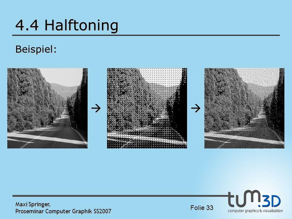 4.4 Halftoning   Beispiel: Maxi Springer,