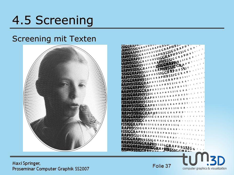 4.5 Screening Screening mit Texten Maxi Springer,