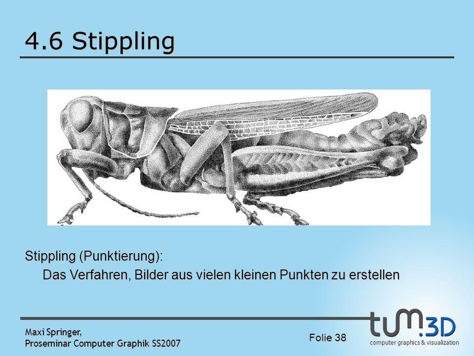 4.6 Stippling Stippling (Punktierung):
