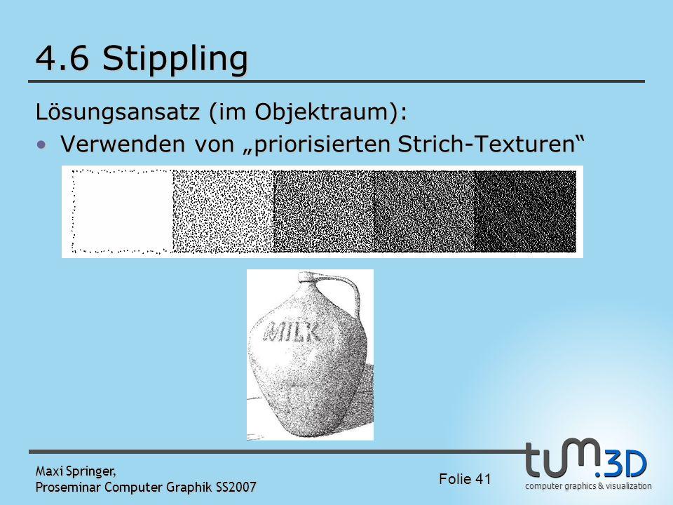 4.6 Stippling Lösungsansatz (im Objektraum):