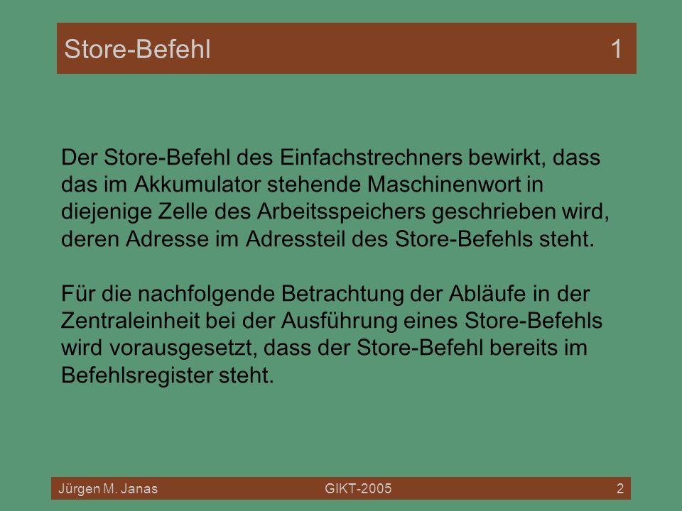 Store-Befehl 1