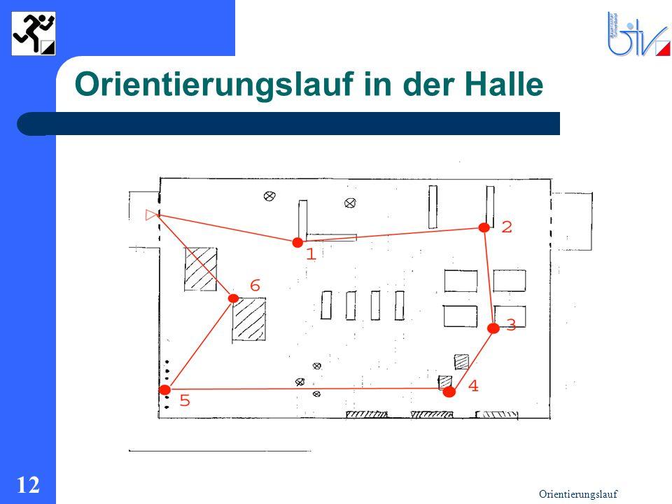 Orientierungslauf in der Halle