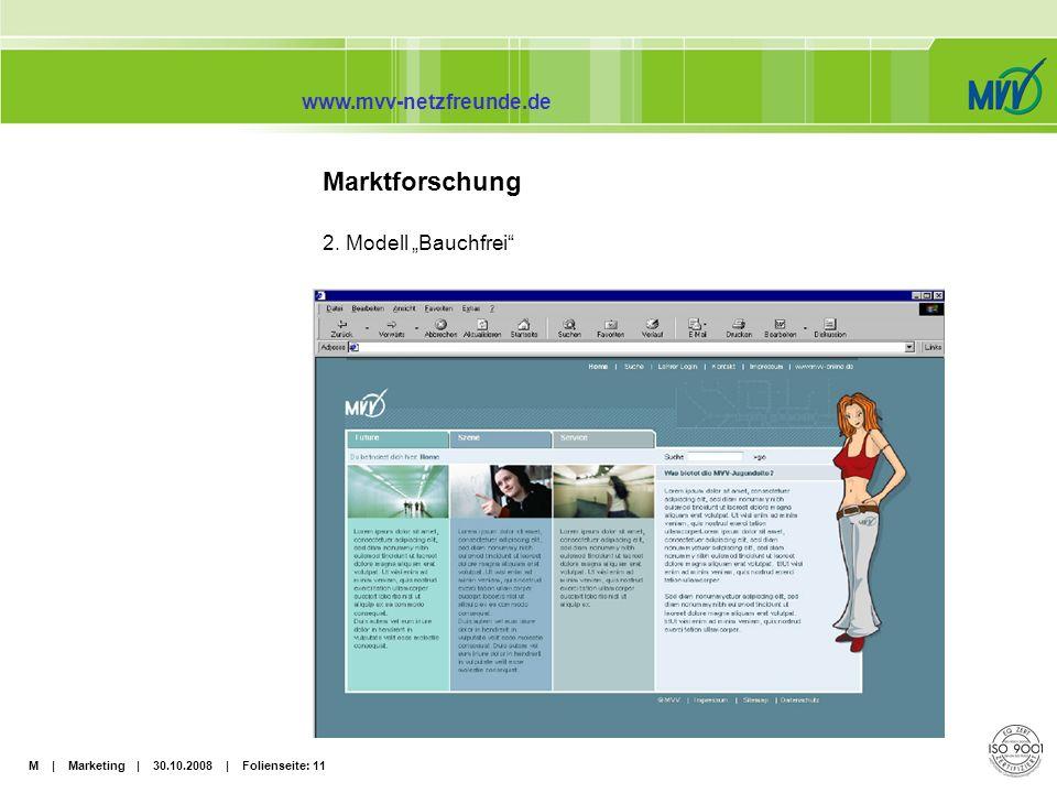 "Marktforschung 2. Modell ""Bauchfrei"