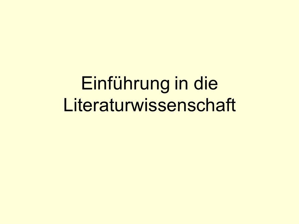 Einführung in die Literaturwissenschaft