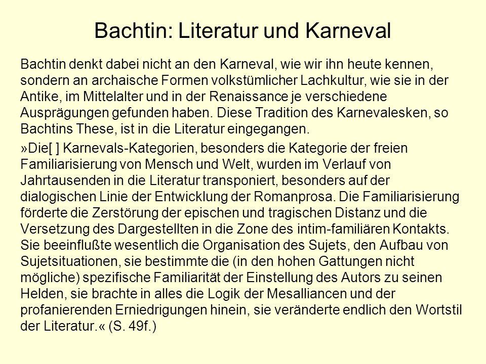 Bachtin: Literatur und Karneval