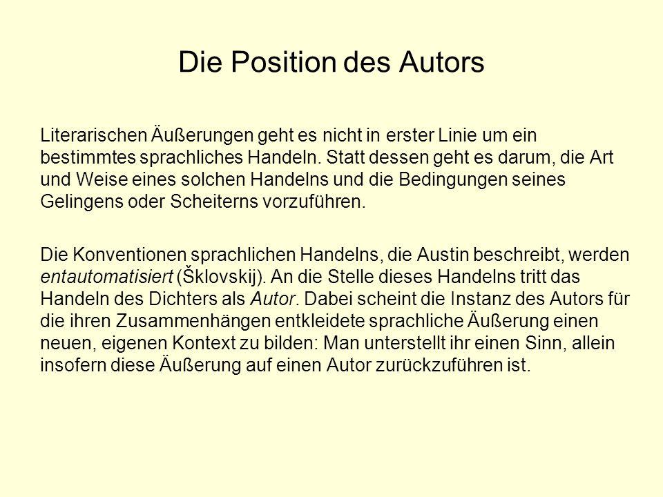Die Position des Autors