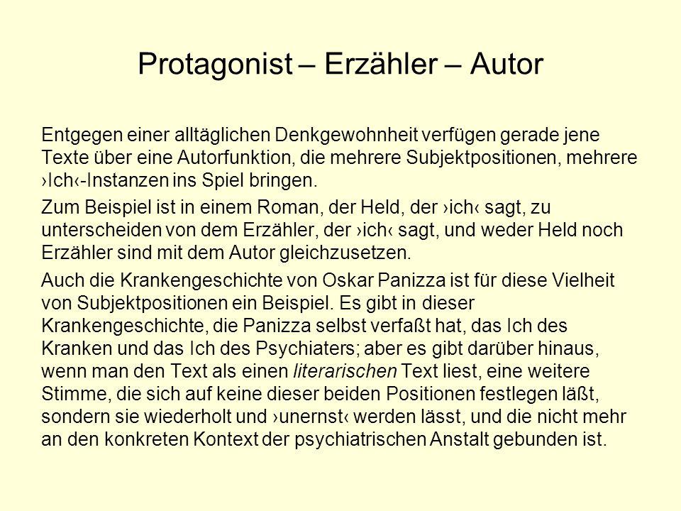 Protagonist – Erzähler – Autor