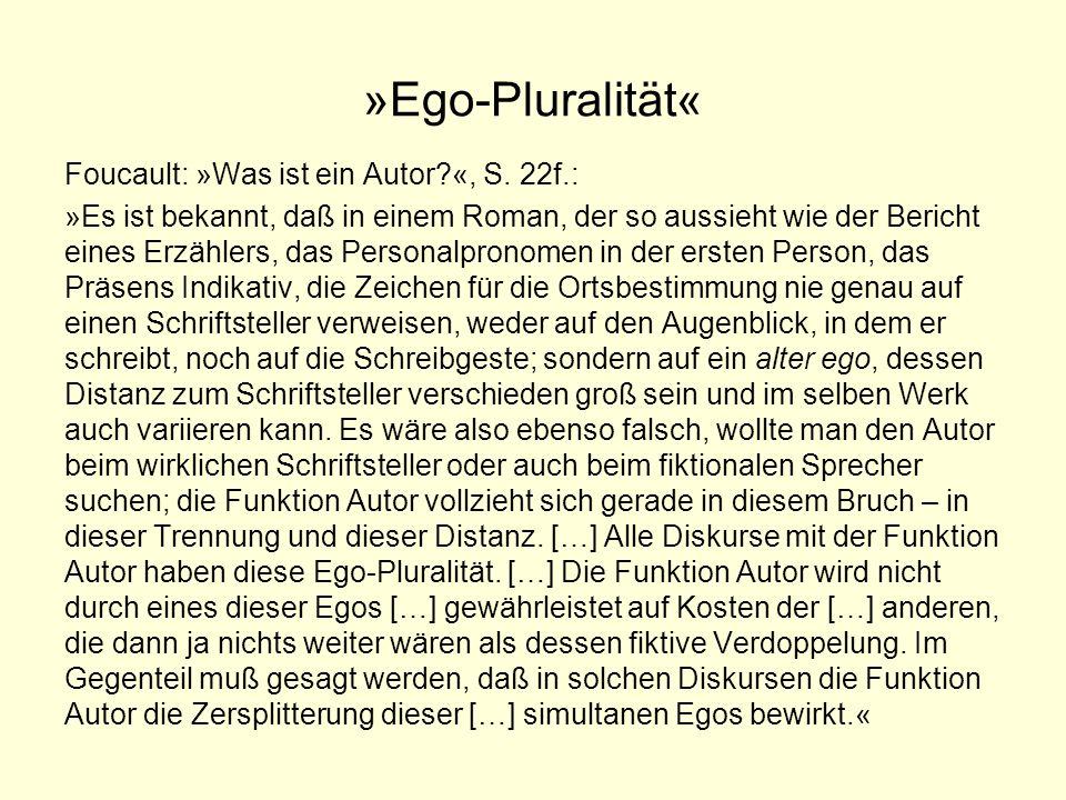 »Ego-Pluralität«