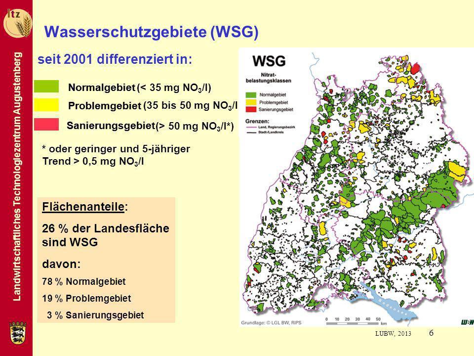 Wasserschutzgebiete (WSG)