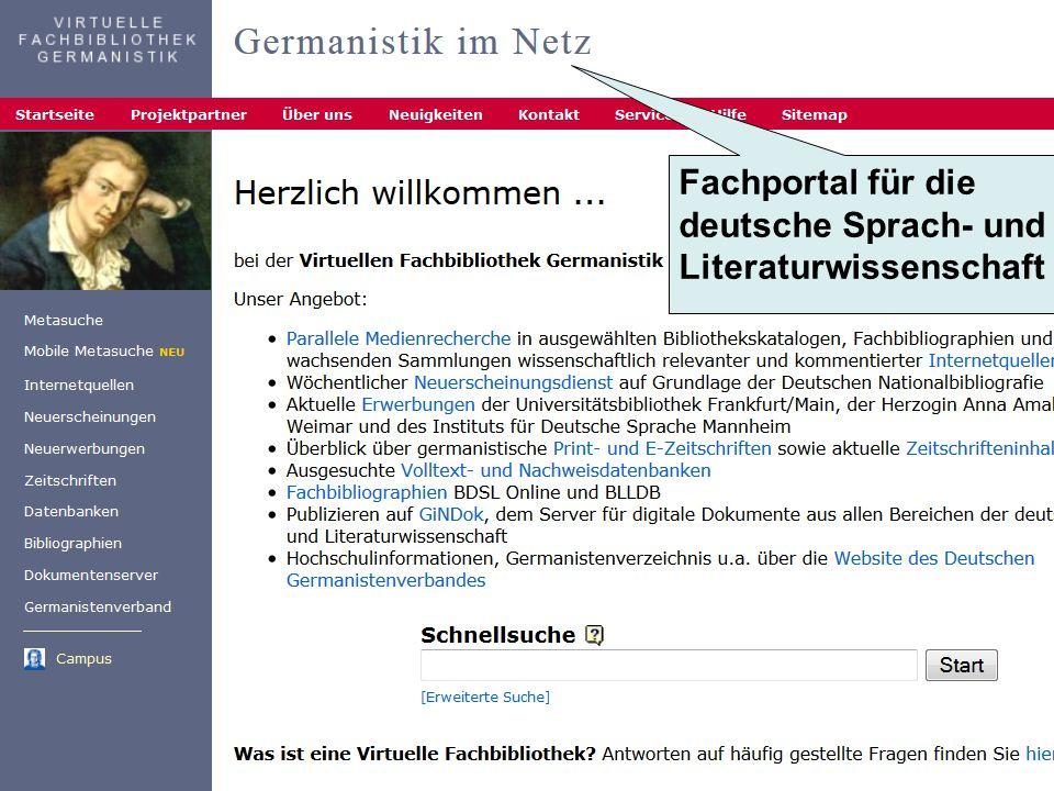 Fachportal für die deutsche Sprach- und Literaturwissenschaft
