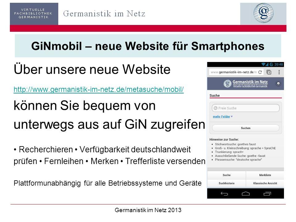 GiNmobil – neue Website für Smartphones