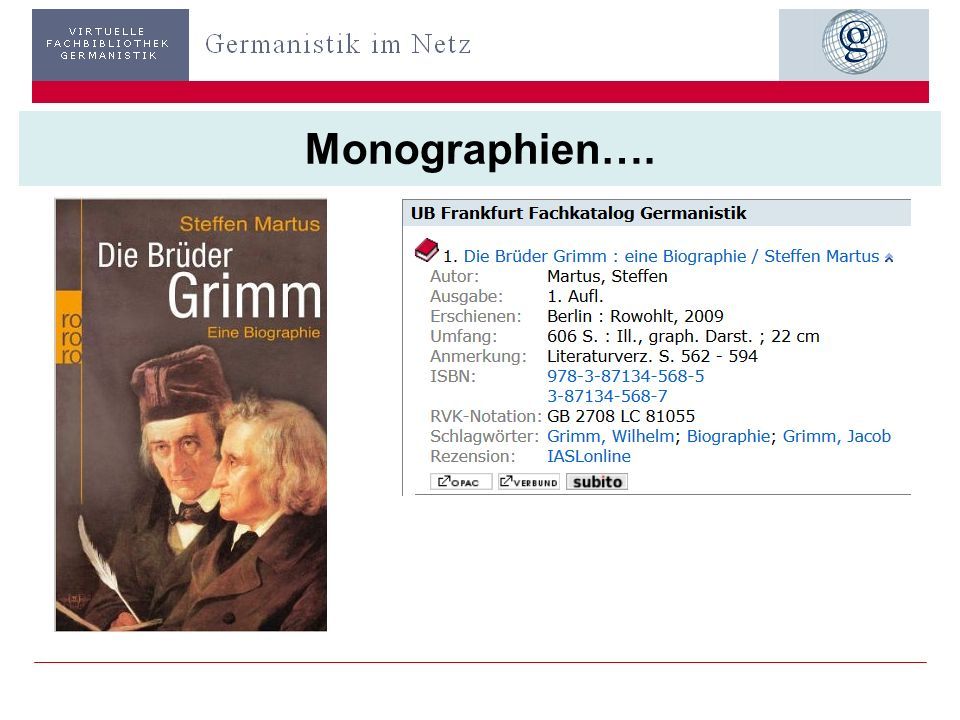 Monographien….