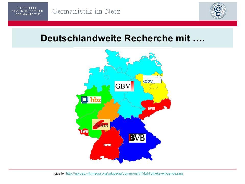 Deutschlandweite Recherche mit ….