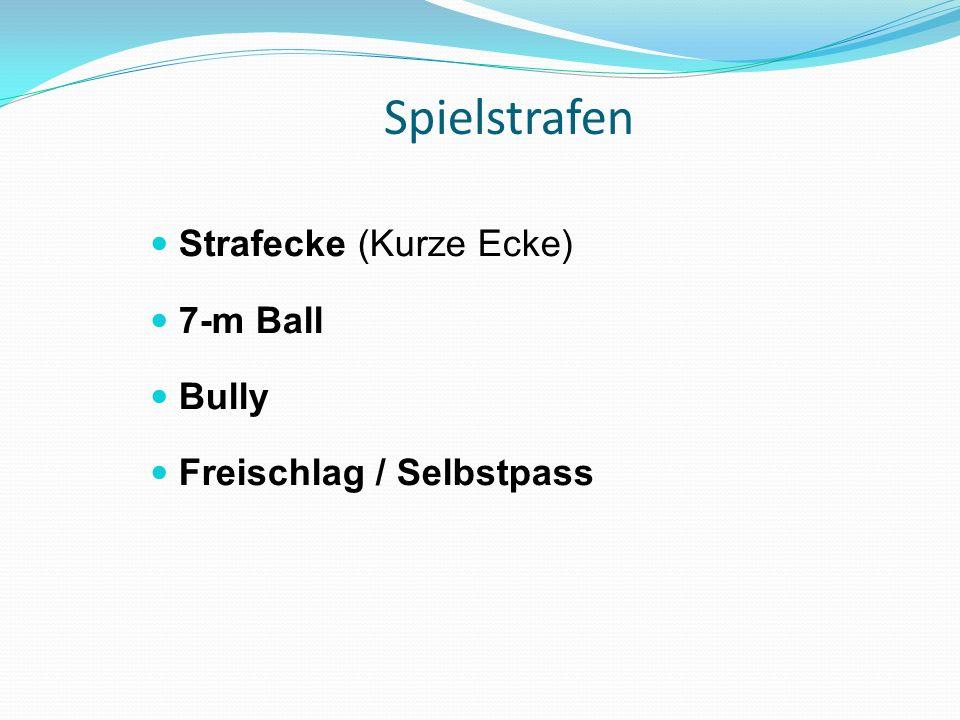 Spielstrafen Strafecke (Kurze Ecke) 7-m Ball Bully