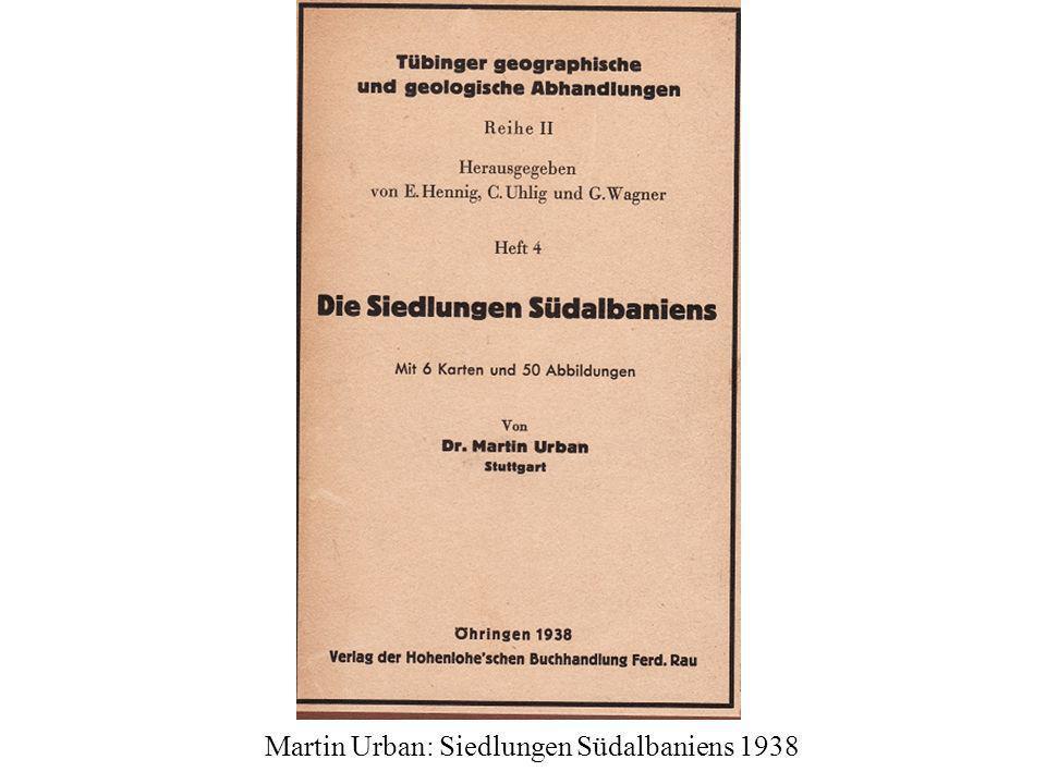 Martin Urban: Siedlungen Südalbaniens 1938