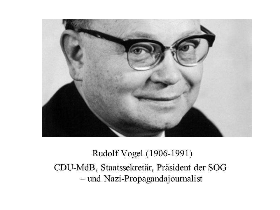 CDU-MdB, Staatssekretär, Präsident der SOG