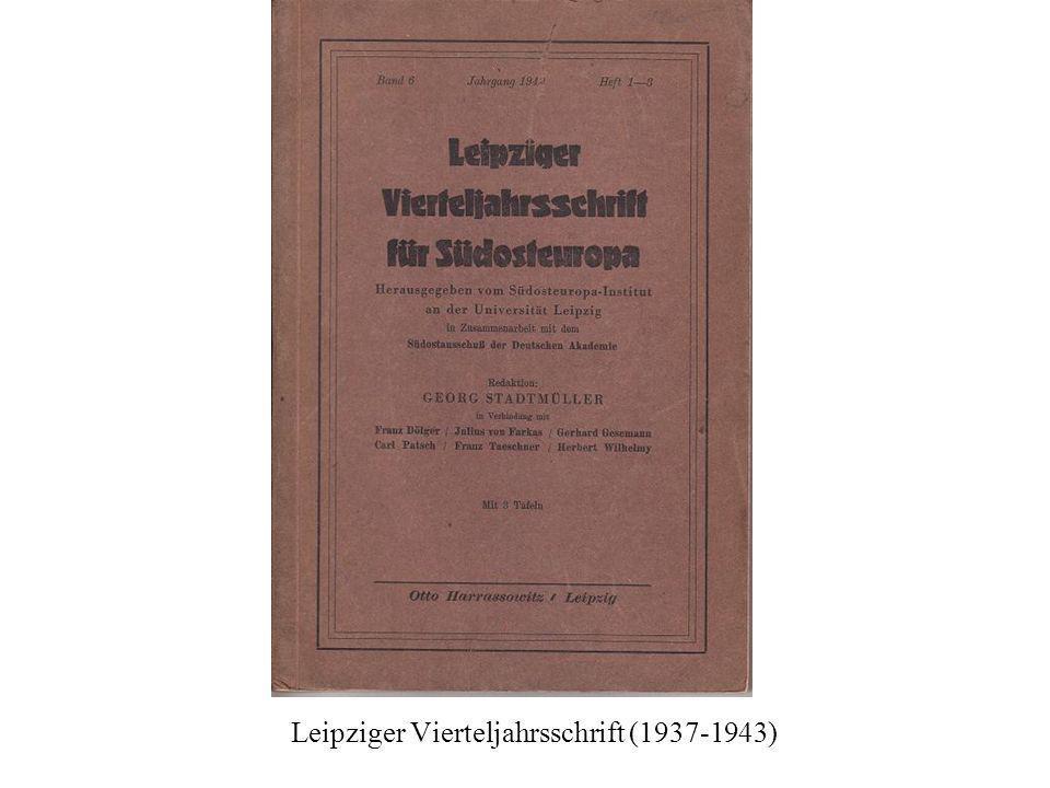 Leipziger Vierteljahrsschrift (1937-1943)