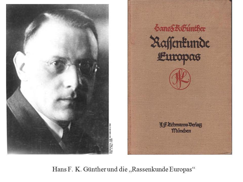 """Hans F. K. Günther und die """"Rassenkunde Europas"""
