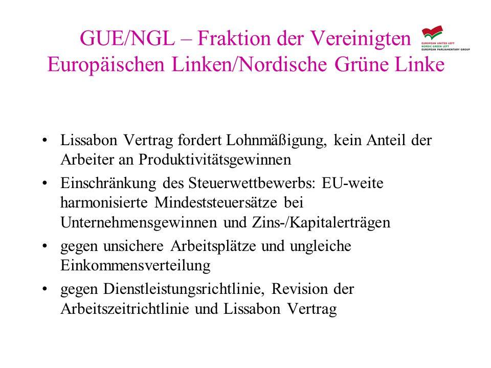 GUE/NGL – Fraktion der Vereinigten Europäischen Linken/Nordische Grüne Linke