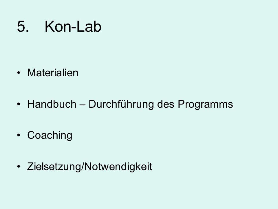 5. Kon-Lab Materialien Handbuch – Durchführung des Programms Coaching