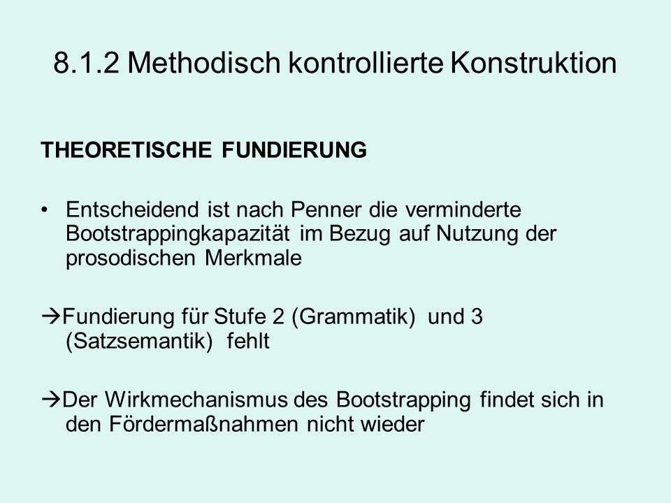 8.1.2 Methodisch kontrollierte Konstruktion