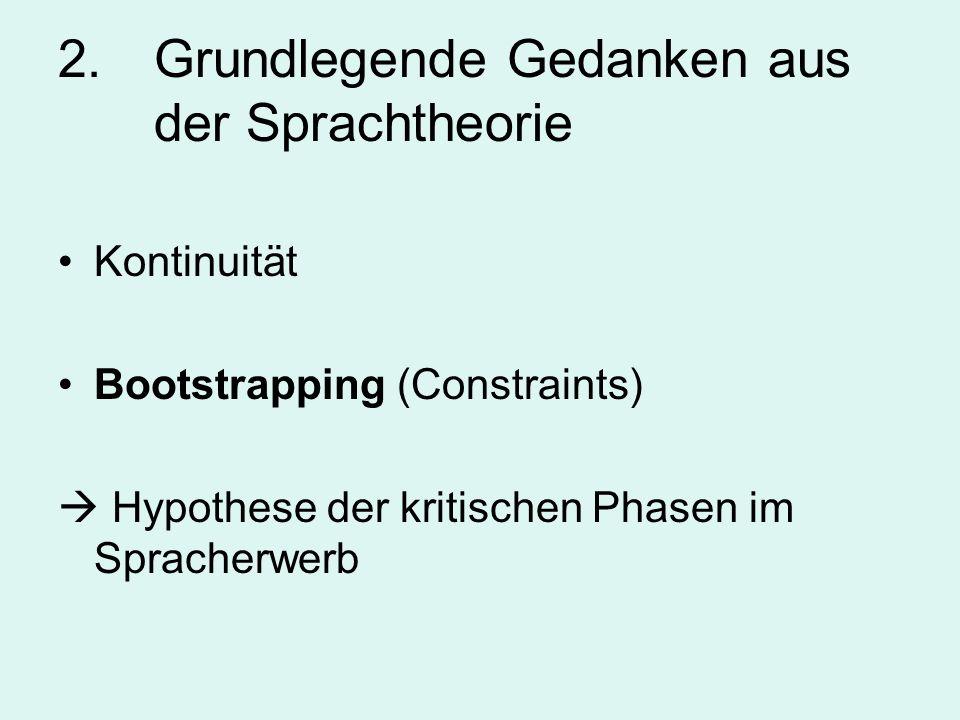 2. Grundlegende Gedanken aus der Sprachtheorie