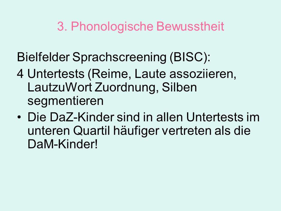 3. Phonologische Bewusstheit