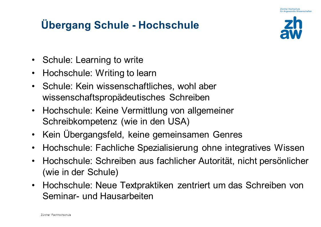 Übergang Schule - Hochschule