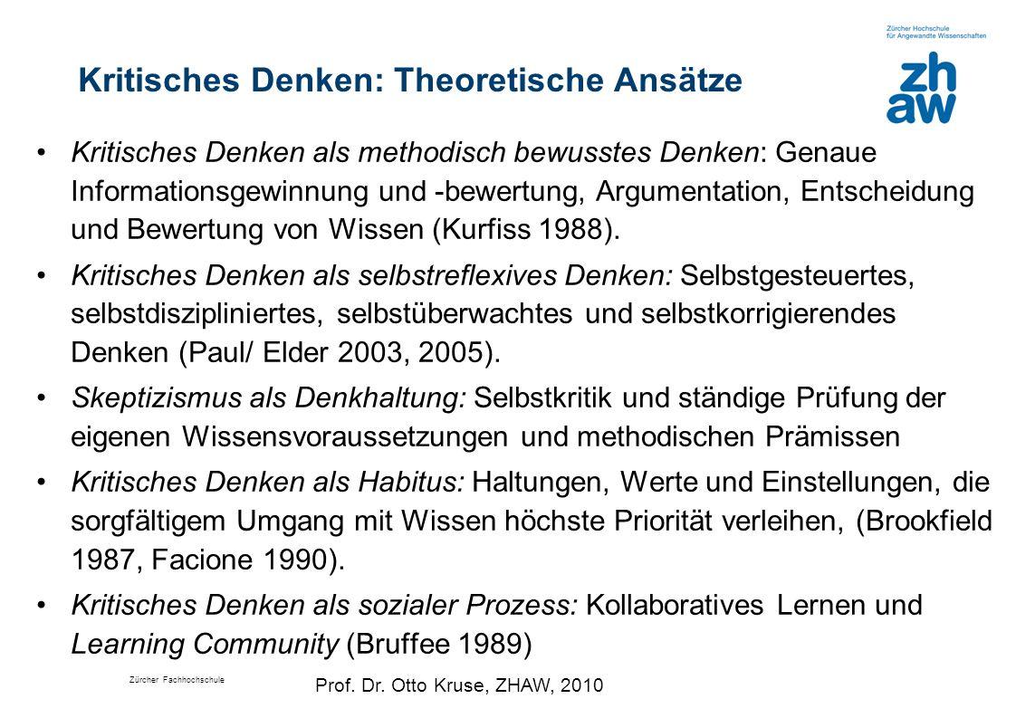 Kritisches Denken: Theoretische Ansätze