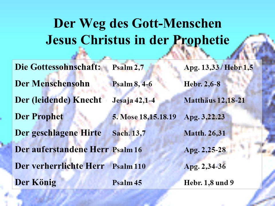 Der Weg des Gott-Menschen Jesus Christus in der Prophetie