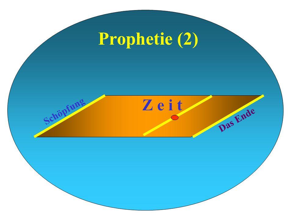 Prophetie (2) Z e i t Schöpfung Das Ende