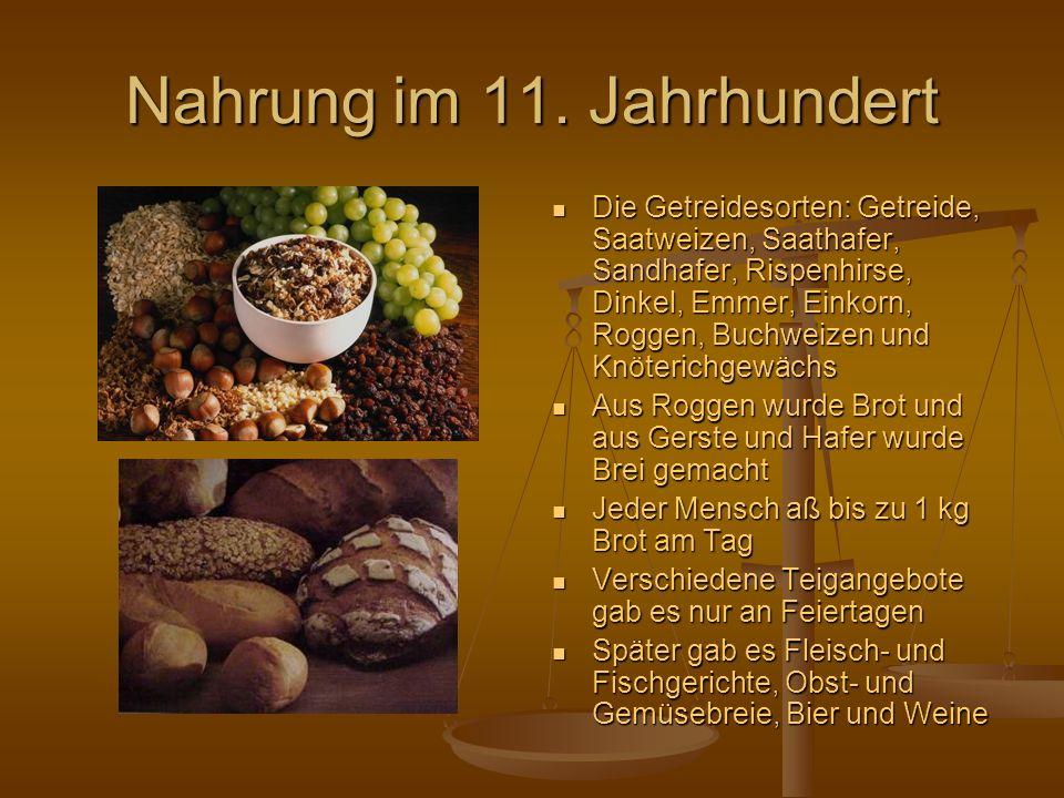 Nahrung im 11. Jahrhundert