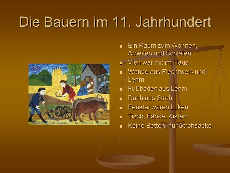 Die Bauern im 11. Jahrhundert