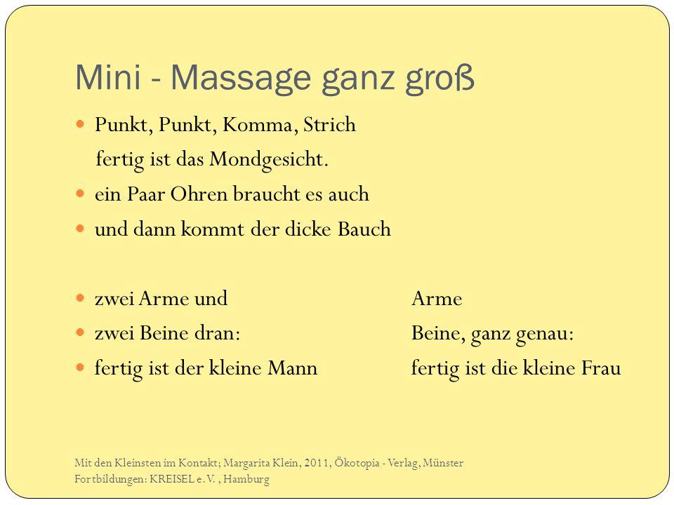 Mini - Massage ganz groß
