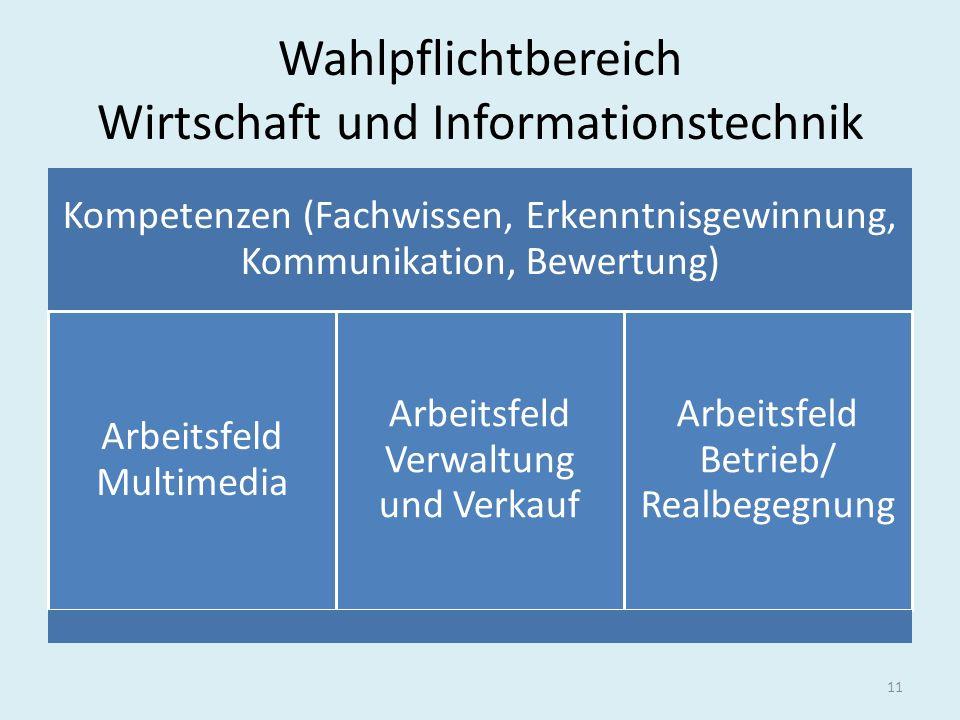Wahlpflichtbereich Wirtschaft und Informationstechnik