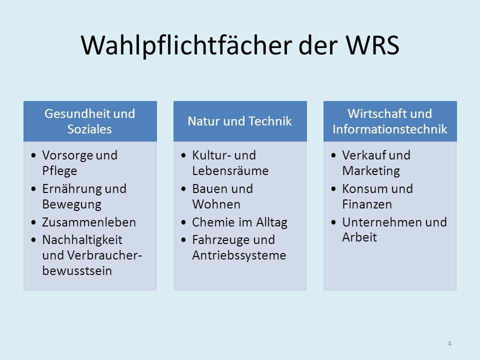 Wahlpflichtfächer der WRS