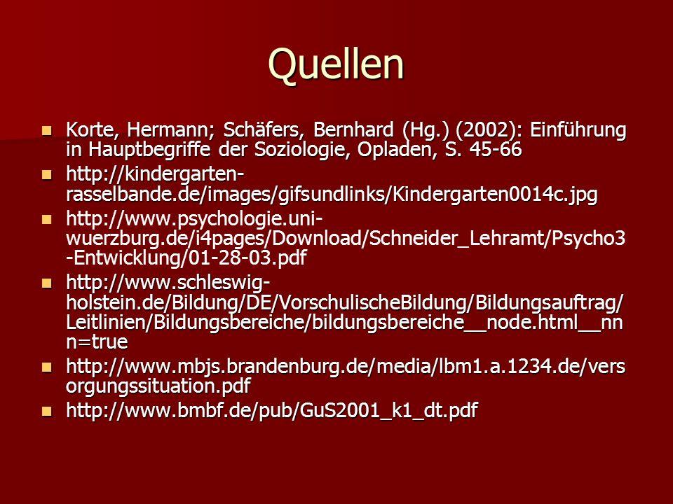 Quellen Korte, Hermann; Schäfers, Bernhard (Hg.) (2002): Einführung in Hauptbegriffe der Soziologie, Opladen, S. 45-66.