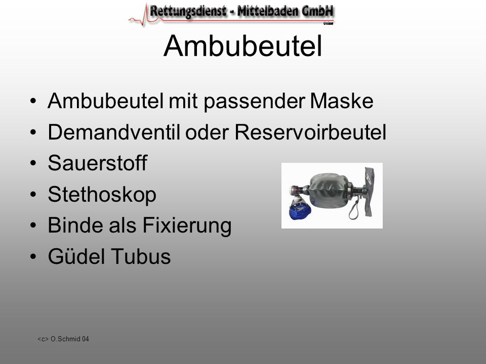 Ambubeutel Ambubeutel mit passender Maske