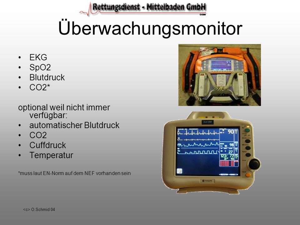 Überwachungsmonitor EKG SpO2 Blutdruck CO2*