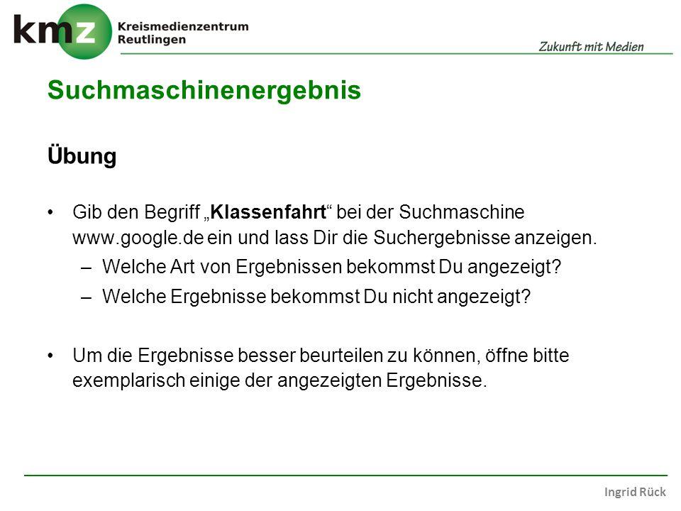 Suchmaschinenergebnis