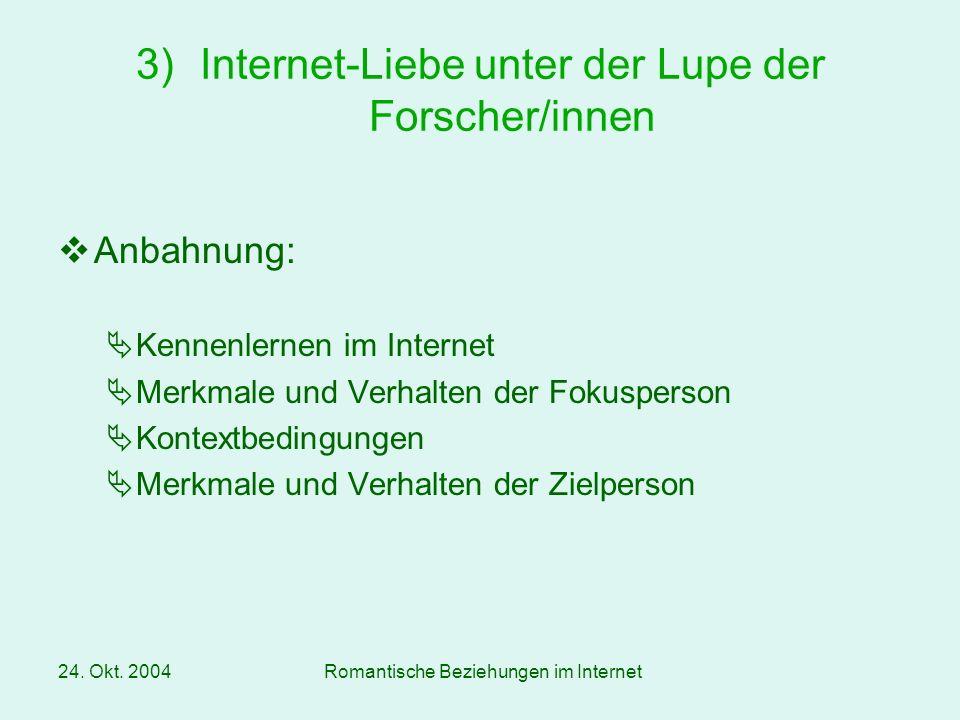 Internet-Liebe unter der Lupe der Forscher/innen