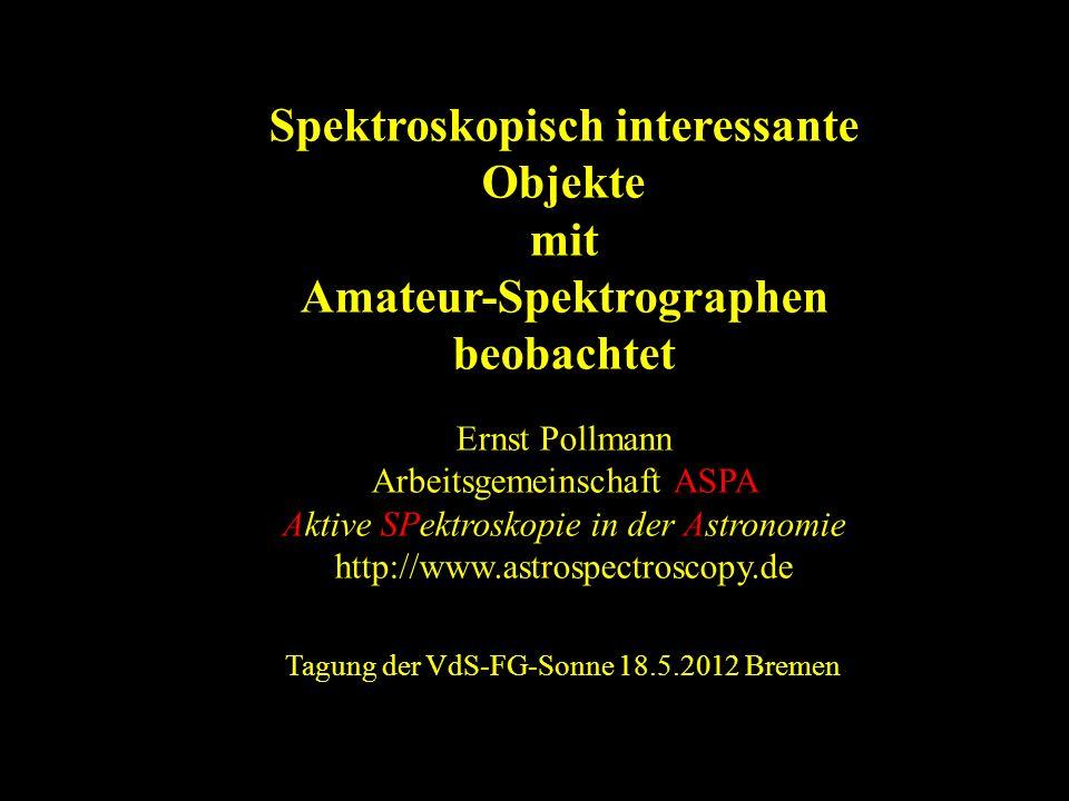 Tagung der VdS-FG-Sonne 18.5.2012 Bremen