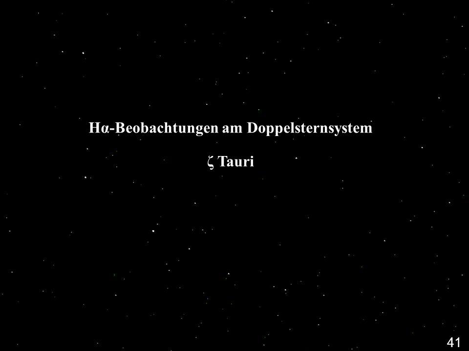 Hα-Beobachtungen am Doppelsternsystem ζ Tauri
