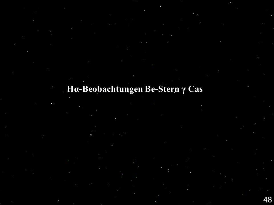 Hα-Beobachtungen Be-Stern γ Cas