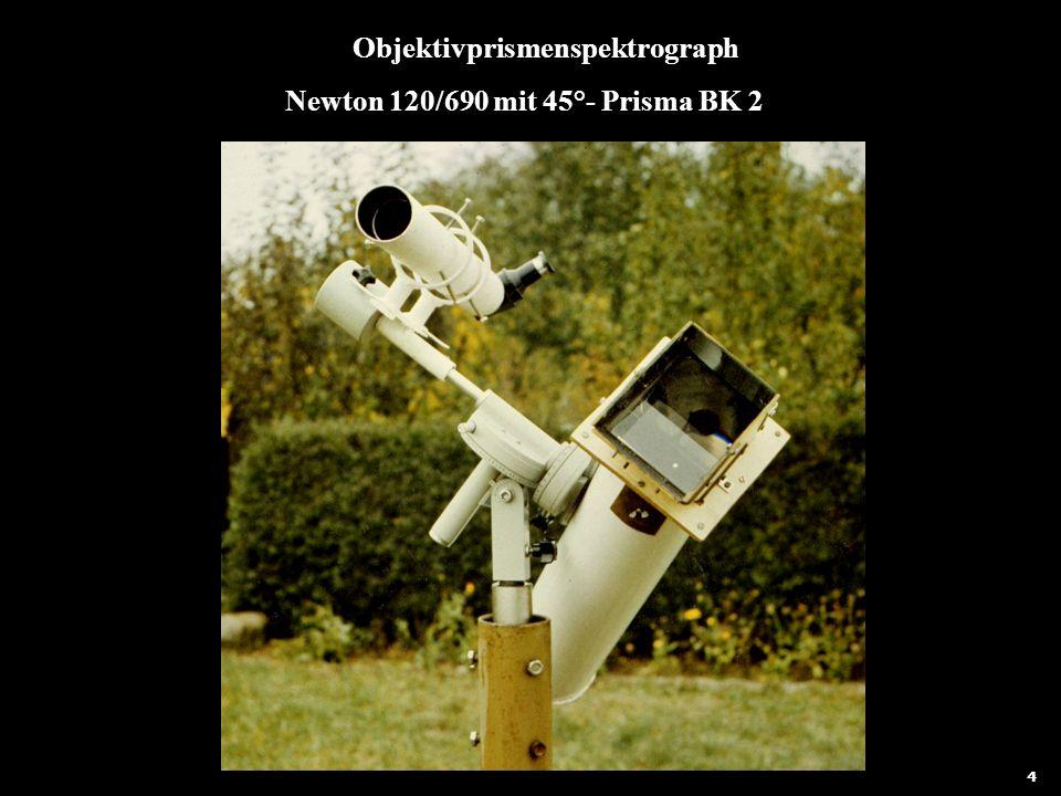 Objektivprismenspektrograph Newton 120/690 mit 45°- Prisma BK 2