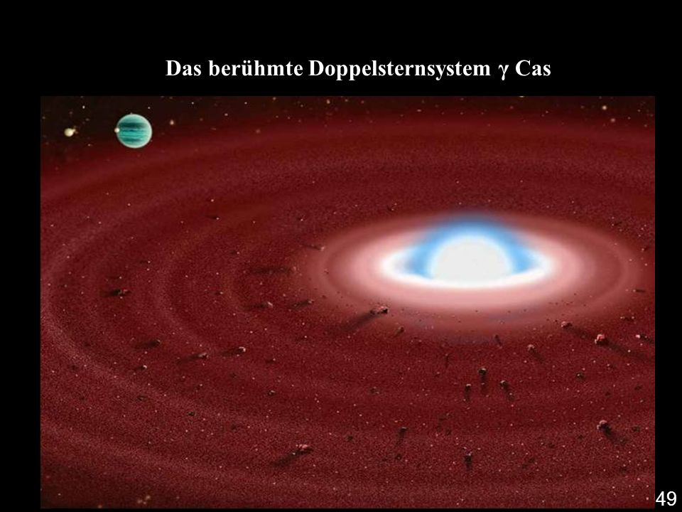 Das berühmte Doppelsternsystem γ Cas